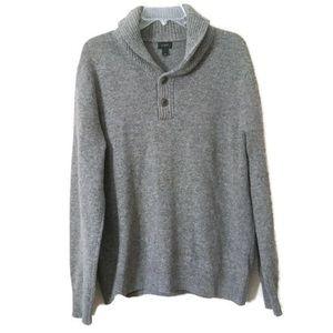 Oversized Gray Wool Sweater